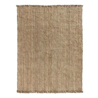 8'x10'  Hand Woven Boucle Natural Jute Area Rug
