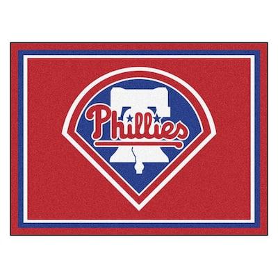 MLB Philadelphia Phillies Red 8 ft. x 10 ft. Indoor Area Rug