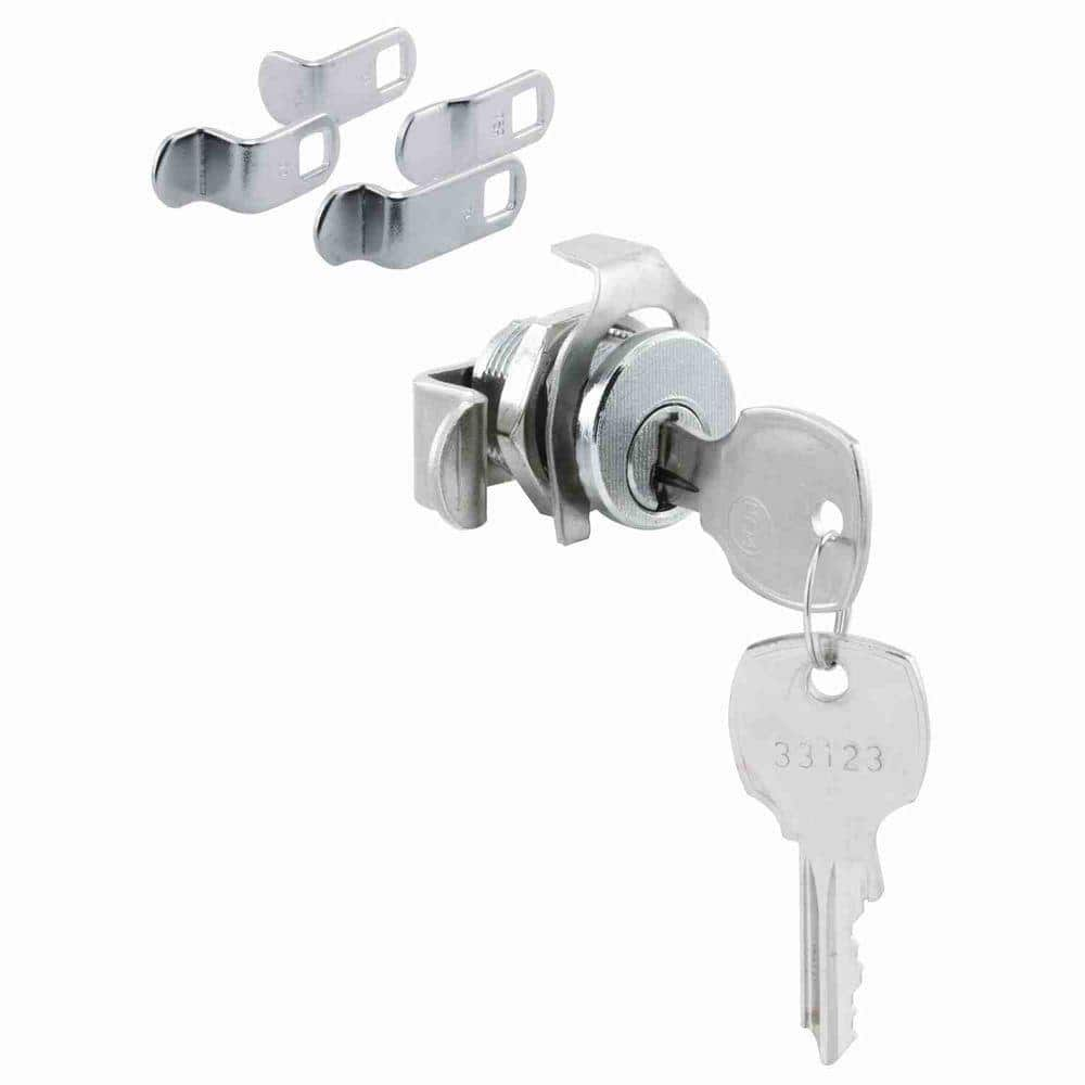 Prime Line Mailbox Lock 5 Cam Nickle Finish National Keyway Opens Counter Clockwise 90 Degree Rotation S 4573 The Home Depot