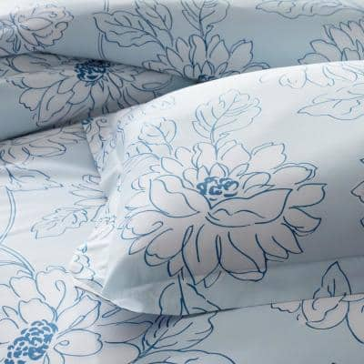 Legends Hotel™ Dahlia Bloom Multicolored Floral 300-Thread Count Cotton & TENCEL Lyocell Flat Sheet