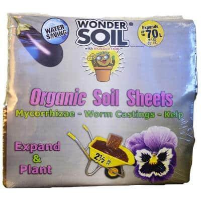 2 cu. ft. Premium Organic Expanding Coco Coir - 8 Soil Sheets with Worm Castings