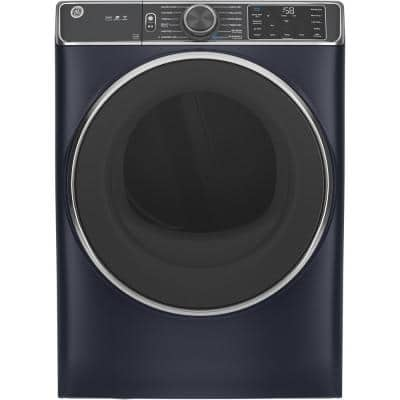 7.8 cu. ft. Smart 120-Volt Sapphire Blue Stackable Gas Vented Dryer with Steam and Sanitize Cycle, ENERGY STAR