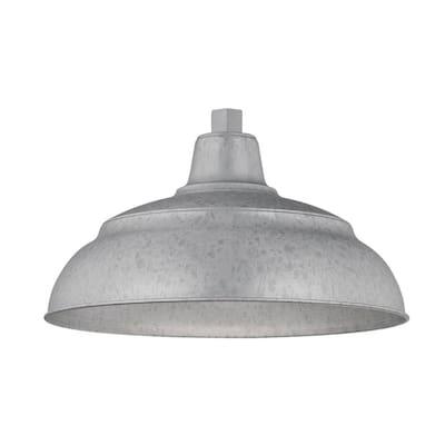R Series 1-Light 15 in. Galvanized Warehouse Shade