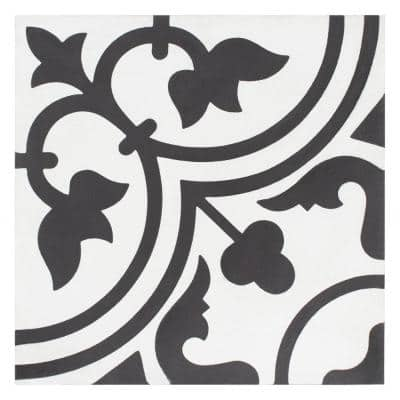 Cemento Arte Snowcap Encaustic 8 in. x 8 in. Cement Handmade Floor and Wall Tile (5.51 sq. ft. / Case)