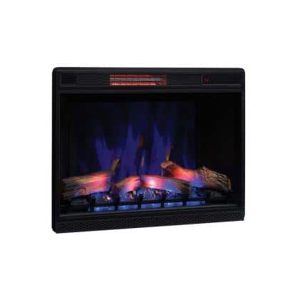 26 in. Ventless Infrared Electric Fireplace Insert with Trim Kit