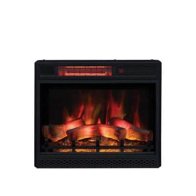 23 in. Ventless Infrared Electric Fireplace Insert with Safer Plug
