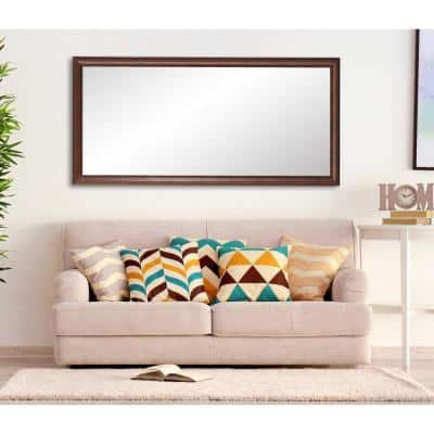 Medium Dark Brown/Copper  Mirror (31 in. H X 65 in. W)