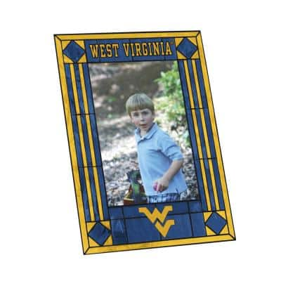 NCAA 4 in. x 6 in. Gloss Multicolor Art Glass West Virginia Picture Frame