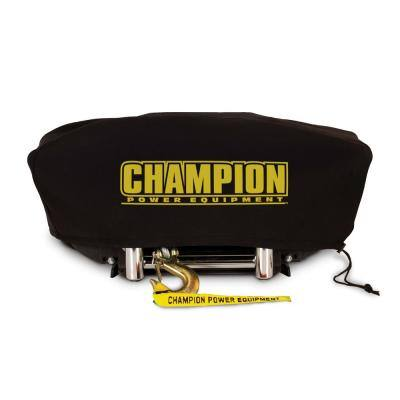 Large Neoprene Winch Cover for 8000 lbs. - 10,000 lbs. Champion Winches with Speed Mount Hitch Adapter