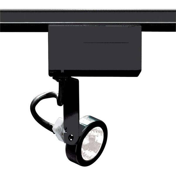 Glomar 1 Light Mr16 12 Volt Black Gimbal Ring Track Lighting Head Hd Th239 The Home Depot