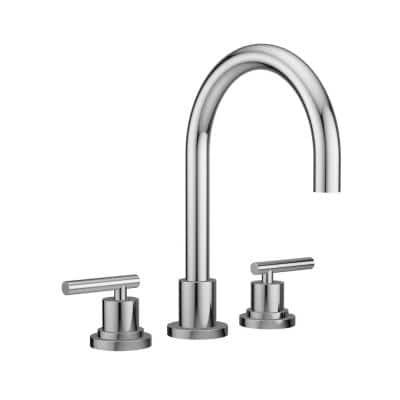 SALONE 2-Handle Deck Mount Roman Tub Faucet in Polished Chrome