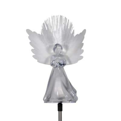 37 in. Tall Solar Angel Garden Stake with Fiber Optic Wings and LED Lights (Set of 2)