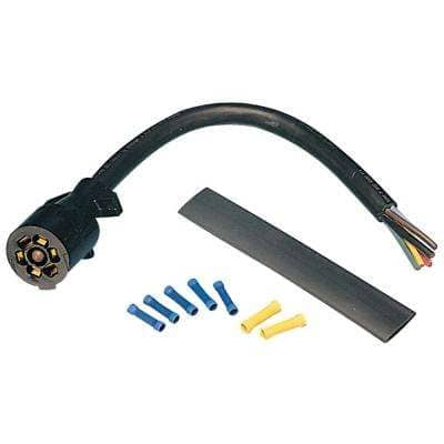 7-Way Molded Trailer End with 1 ft. Cable