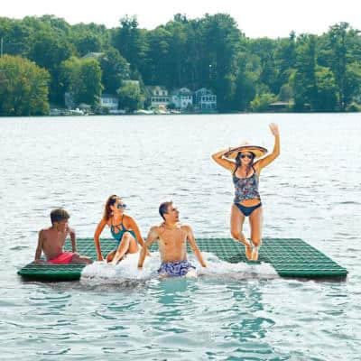 6 ft. Inflatable and Supersized Floating Party Platform, Stripes