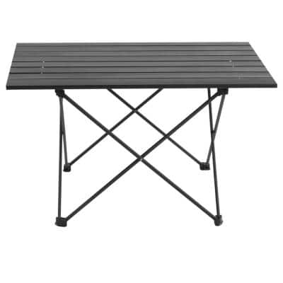 Echosmile Large Size Black Aluminum Collapsible Table