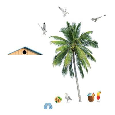 110.2 in. x 39.4 in. Summer Palm Wall Decal