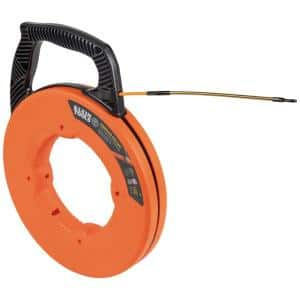Fiberglass 100 ft. Fish Tape with Spiral Steel Leader