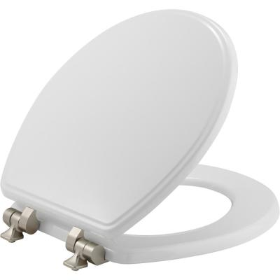 Weston Slow Close Round Closed Front Toilet Seat in White