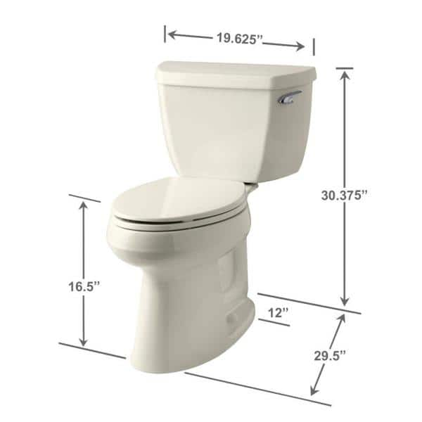 Kohler Highline Classic The Complete Solution 2 Piece 1 28 Gpf Single Flush Elongated Toilet In Biscuit Seat Included K 11499 96 The Home Depot