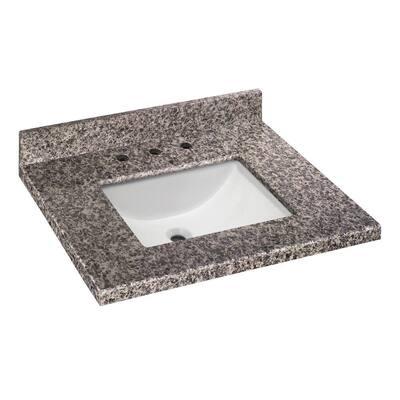 31 in. W x 22 in. D Granite Vanity Top in Sircolo with White Single Trough Basin