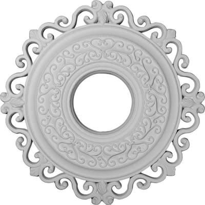 "22"" x 6-1/4"" ID x 1-3/4"" Orrington Urethane Ceiling Medallion (Fits Canopies upto 6-1/4""), Primed White"