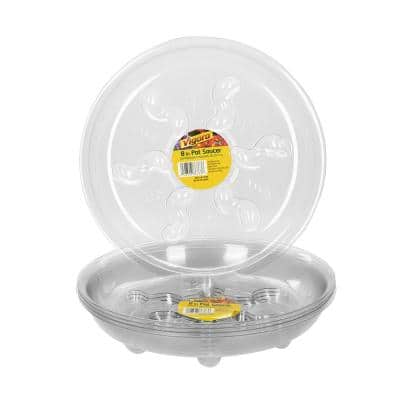 8 in. Plastic Heavy-Duty Plant Saucer (5-Pack)