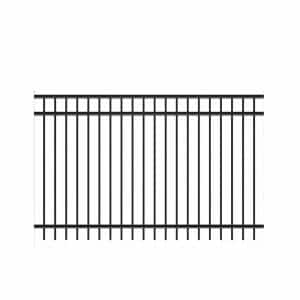 Natural Reflections Heavy-Duty 5 ft. H x 8 ft. W Black Aluminum Pre-Assembled Fence Panel