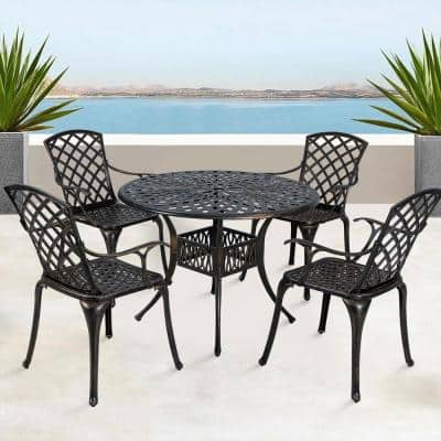 5 Piece Bistro Sets Patio Dining Furniture The Home Depot