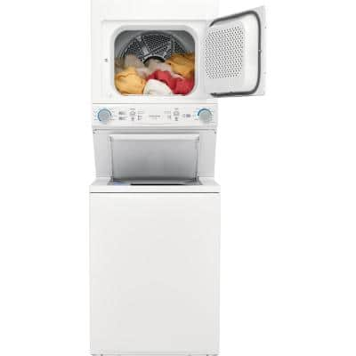 White Gas Washer/Dryer Laundry Center - 3.9 cu. ft Washer and 5.6 cu. ft. Dryer
