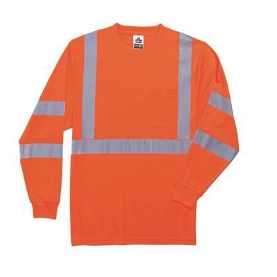 2XL Hi Vis Orange Long Sleeve T-Shirt