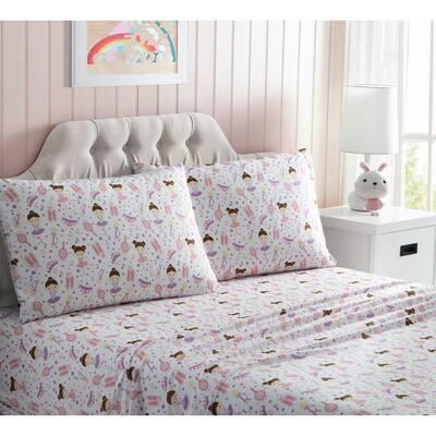 Kute Kids Ballerina Pink Toddler Sheet Set
