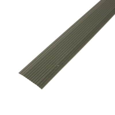 Cinch 1.25 in. x 36 in. Satin Nickel Fluted Seam Cover Transition Strip