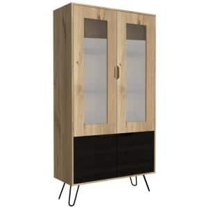 Aster 71 in. Natural Composite Pantry Cabinet with 7 Compartments