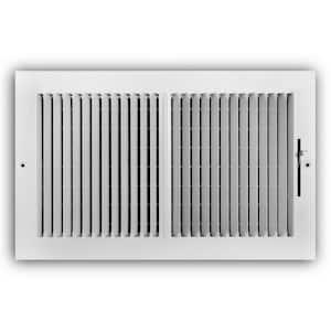 14 in. x 8 in. 2-Way Steel Wall/Ceiling Register in White
