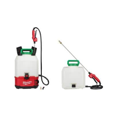 M18 18-Volt 4 Gal. Lithium-Ion Cordless Switch Tank Backpack Pesticide Sprayer (Tool-Only) and 2 Tank Assemblies