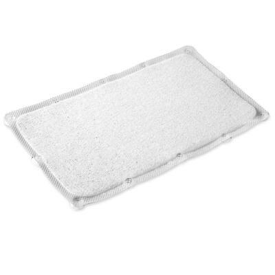 29.5 in. W x 17.25 in. L Loofa Bath Carpet in White