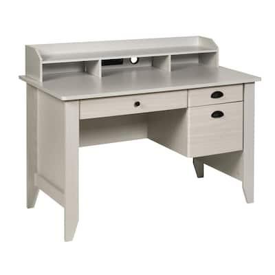 48 in. Rectangular Oak 3 Drawer Executive Desk with File Storage