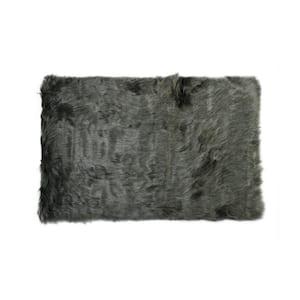 Hudson Gray 5 ft. x 8 ft. Faux Sheepskin Indoor Rug