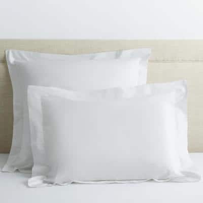 Company Cotton White Solid 300-Thread Count Percale Euro Sham
