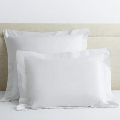 Company Cotton White Solid 300-Thread Count Percale Standard Sham