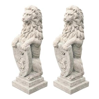 Beaumaris Castle Lion Sculpture Set (2-Piece)