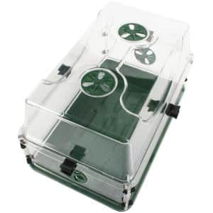 Seed and Herb Domed Propagator and Tray with Vented Side Extension and Secure Lid Clip Set