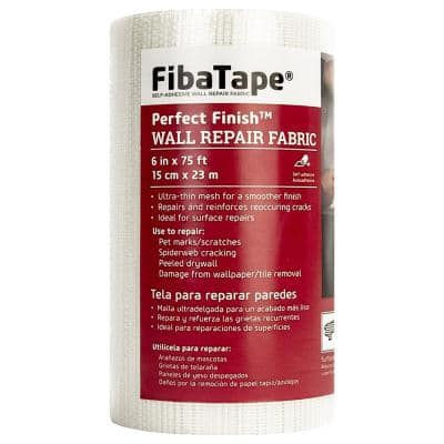 FibaTape Perfect Finish 6 in. x 75 ft. Self-Adhesive Wall Repair Fabric