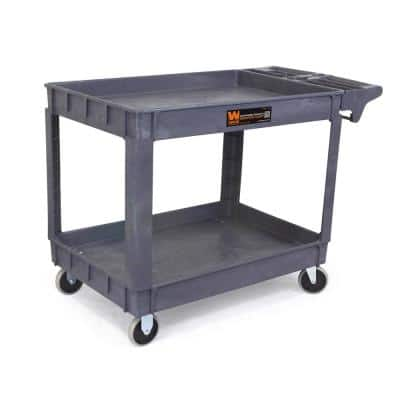 25.5 in. x 46 in. 500 lbs. Capacity Extra-Wide Service Utility Cart