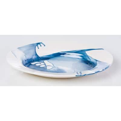 Splash Blue & White Platter