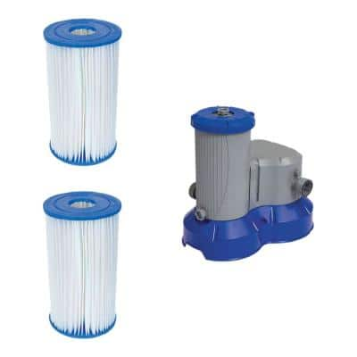 Type IV/B Pool Replacement Filter Cartridge (2-Pack) with Above Ground Filter Pump