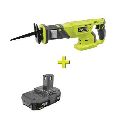 ONE+ 18V Cordless Reciprocating Saw with 1.5 Ah Compact Lithium-Ion Battery