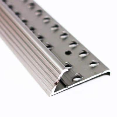 Pewter Fluted 72 in. Carpet Gripper with Teeth