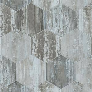 Suomi Hex Grey 8-5/8 in. x 9-7/8 in. Porcelain Floor and Wall Tile (11.56 sq. ft./Case)
