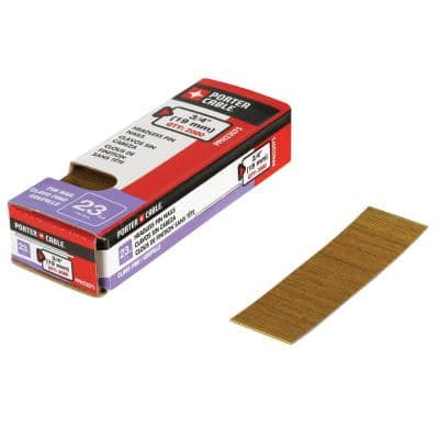 3/4 in. x 23-Gauge Glue Collated Bright Pin Nails (2000 per Box)